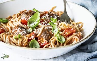 Spaghetti met kaasgehaktballetjes